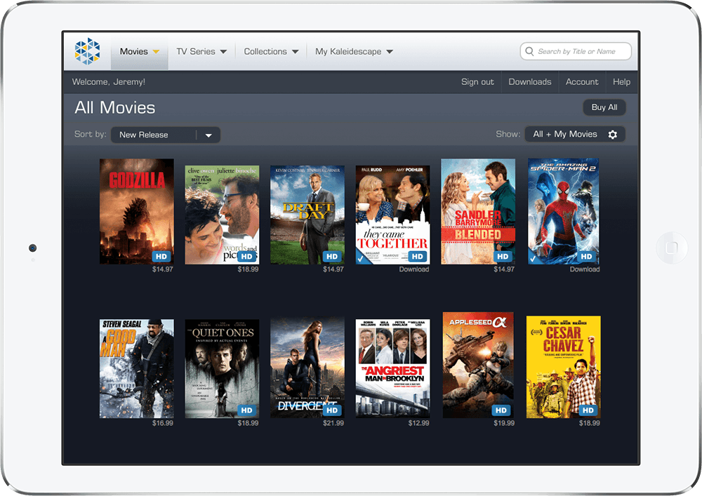kaleidescape store ipad movies